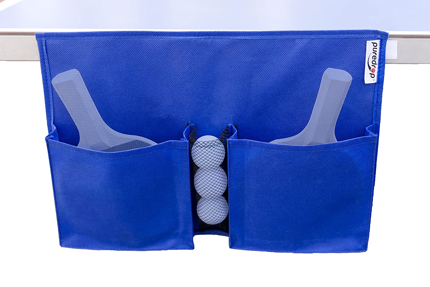Puredrop Table Tennis Organizer Case: Racket Storage In Two Large Pouches  And Balls In Mesh