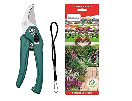 Inditradition Garden Scissor   Garden Shears, Hand Pruner (Stainless Steel)