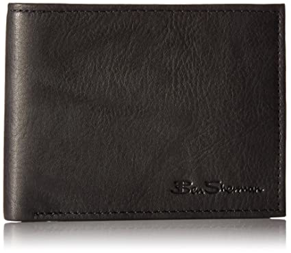 c82631a8f7b7 Ben Sherman Manchester Full Grain Marble Crunch Leather Passcase Wallet  With Flip Up ID Window (