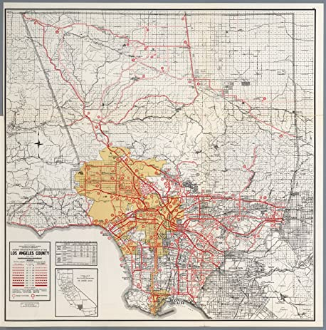 Amazoncom Map Poster Los Angeles County 24x235 Posters