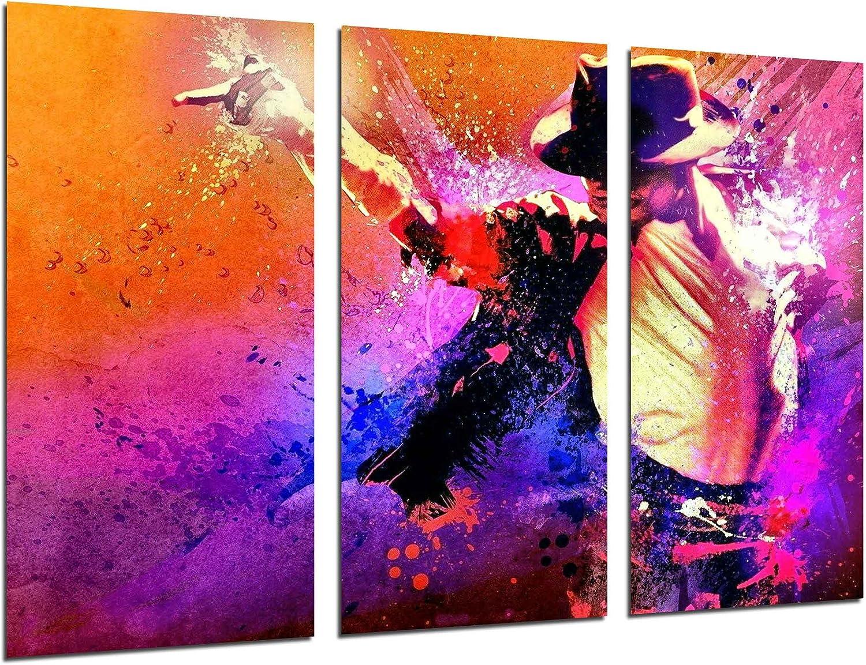 Cuadros Camara Fotográfico Michael Jackson, Musica Pop Tamaño total: 97 x 62 cm XXL, Multicolor