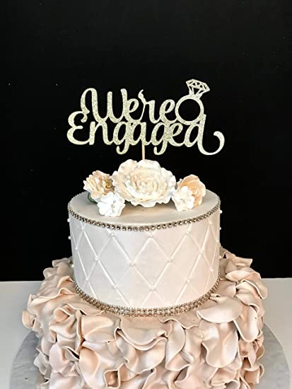 Cake Toppers Personalised Custom Engagement Cake Topper Engage Party Cake Top Decoration