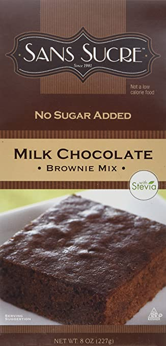 Sans Sucre Milk Chocolate Brownie Mix Sweetened With Stevia