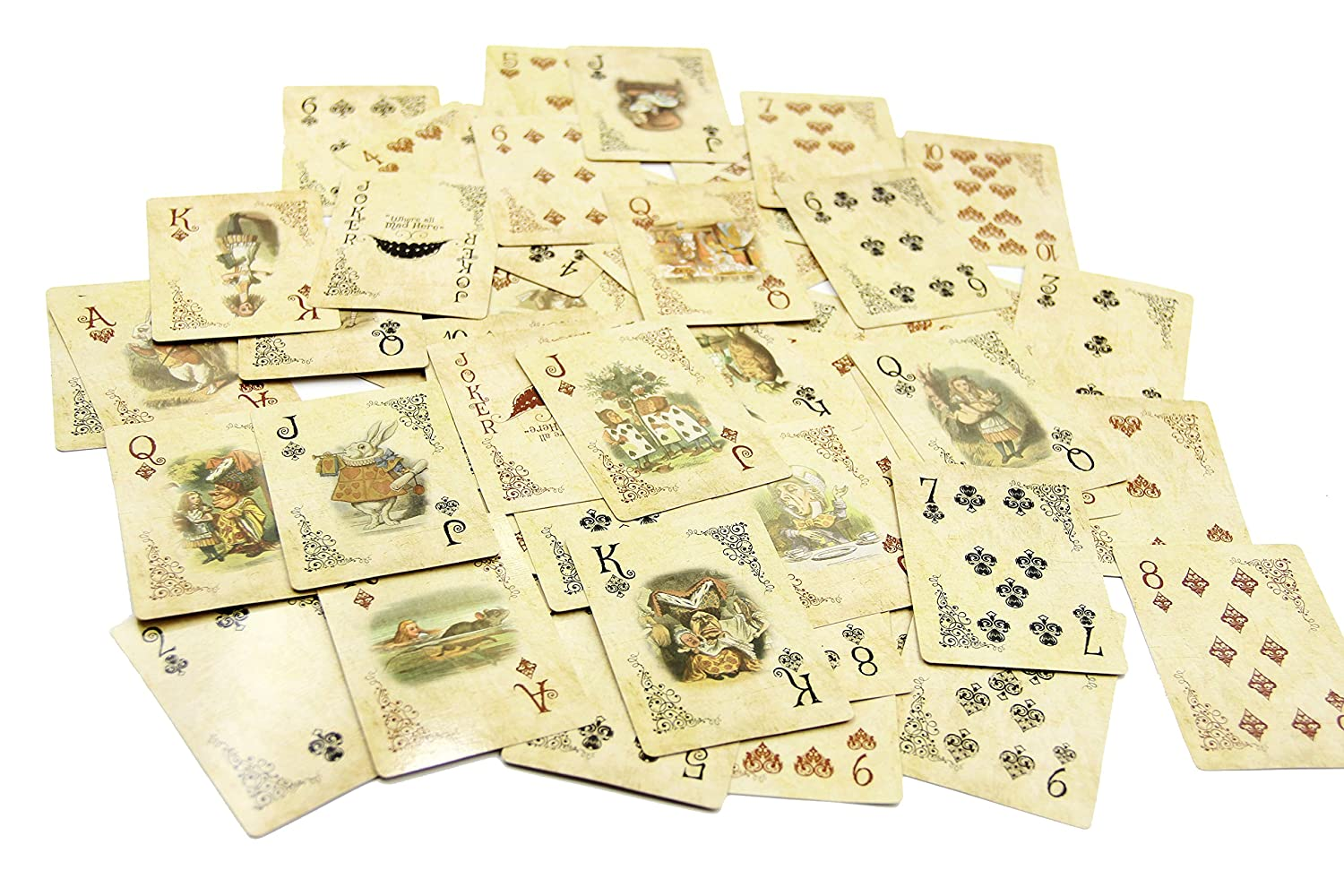 Amazon Asvp Shop Alice In Wonderland Playing Cards Party Props