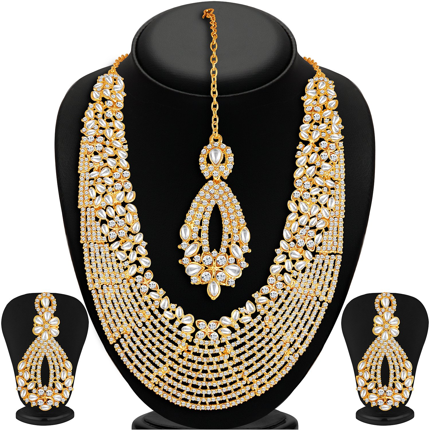 designs gold necklace in and bridal jewellery diamond page indian