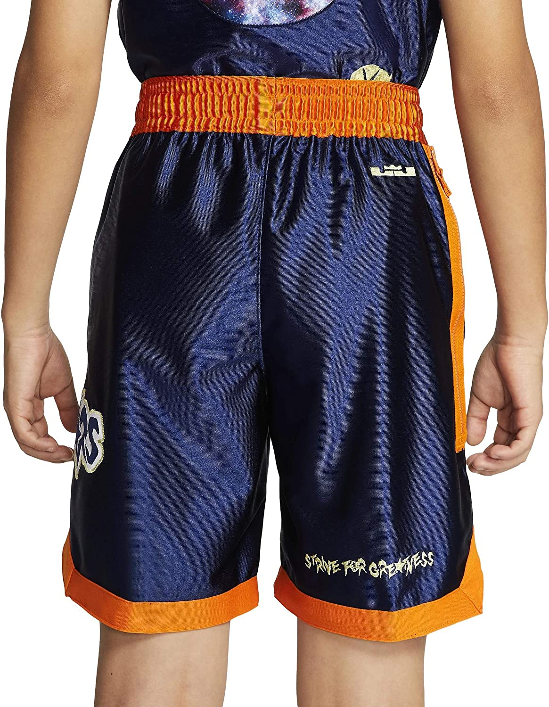 Space Jam LeBron James Basketball Shorts Stitched White
