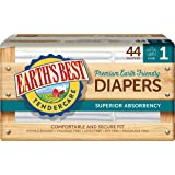 Earth's Best TenderCare Chlorine-Free Disposable Baby Diapers, Size 1 (8-14 lbs.), 44 Count (Pack of 4)
