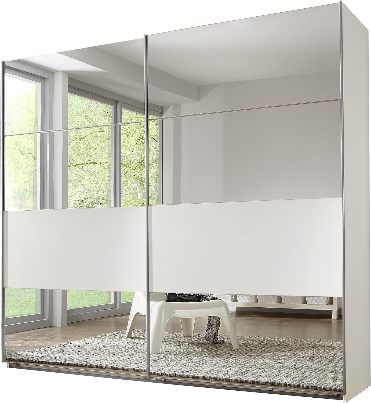 Wimex 488795 Armario de Puertas correderas 270 x 210 x 65 cm, Campos Variable recolocable, Espejo, Color Blanco: Amazon.es: Hogar