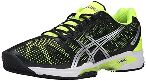 pretty nice 2387e 79abd ASICS Men s Gel Solution Speed 2 Clay Court Tennis Shoe, Onyx Flash Yellow