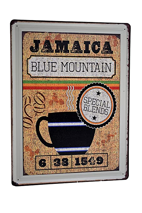 Amazon.com: H&K Blue Mountain Coffee Retro Metal Tin Sign Posters Kitchen Café Diner Restaurant Wall Decor 12X16-Inch: Home & Kitchen