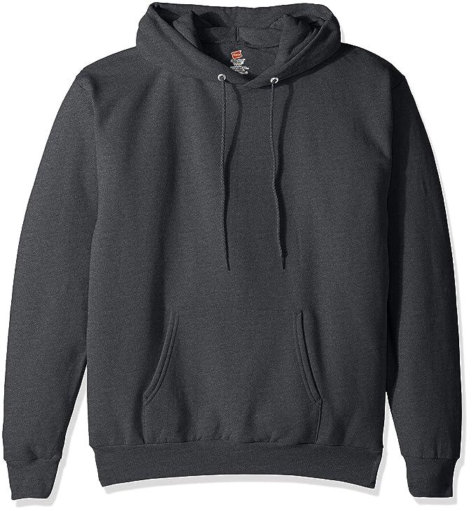 Hanes Men's Pullover Ecosmart Fleece Hooded Sweatshirt, Charcoal Heather, XL best men's sweatshirt