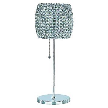 Schonbek DIT0820S Swarovski Lighting Dionyx Table Lamp, Stainless Steel