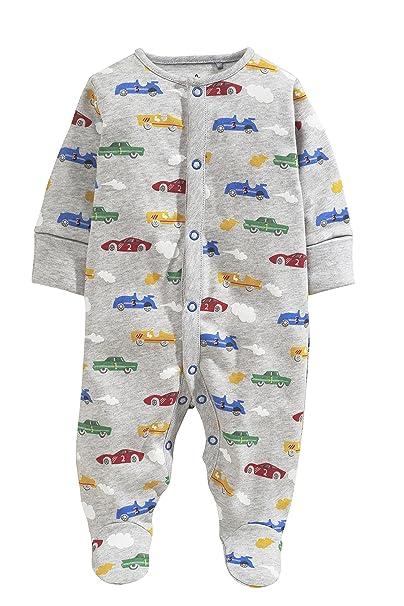 next Bebé Niños Paquete De Dos Pijamas Peleles Estampado De Coches De Algodón