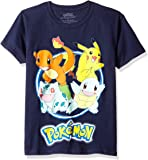 Pokemon Boys' Group Shot Youth Short-Sleeved Tee Tearaway Label
