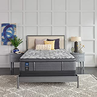 product image for Sealy Posturepedic Plus, Euro Pillow Top 14 Plush Soft Mattress with AllergenProtect and 5-Inch Foundation, Twin XL, Grey