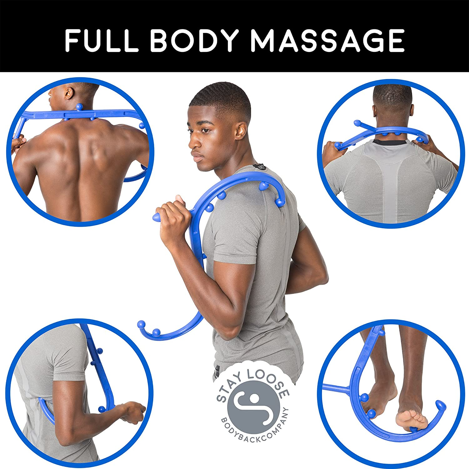 Body Back Buddy Self Massage Tool - Back, Neck, Shoulder, Leg & Feet  Trigger Point Therapy & Deep Tissue Massager by Body Back Company  (Full-sized Blue): ...