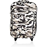 Obersee Kids Rolling Luggage with Integrated Snack Cooler, Camo