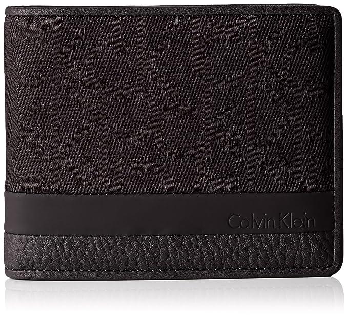 negozio online 9cc26 782bd Calvin Klein Portafoglio Uomo Wallet Tom Logo 10CC + Coin ...