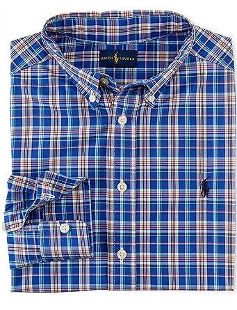 a632eba95 Amazon.com  Ralph Lauren Boys Plaid Cotton Blake (L 14-16)  Clothing