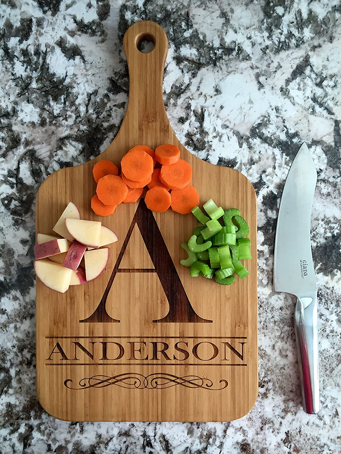 Personalized Engraved Cutting Board with Handle