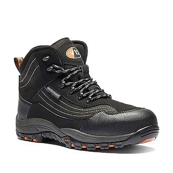 2938cae724881 V12 V1501/03 Caiman Safety boot, UK size 3, Black/graphite: Amazon ...