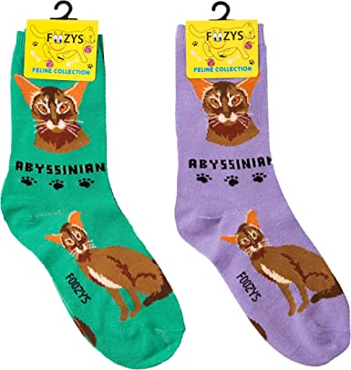 Personalized Crew Socks With Funny Cat Meow Print For Women Men