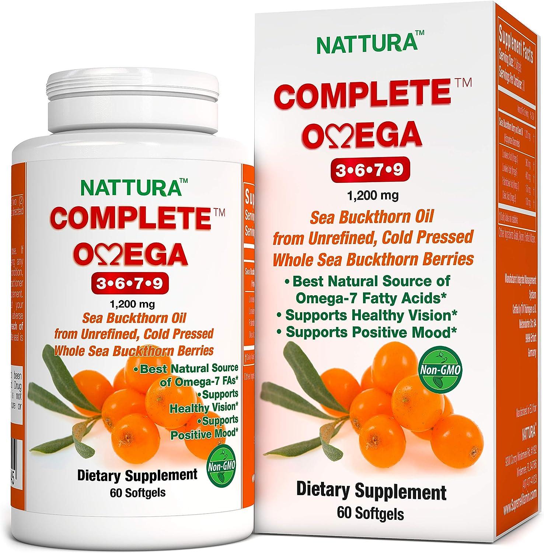 Amazon Com Complete Omega 3 6 7 9 Pure Sea Buckthorn Oil