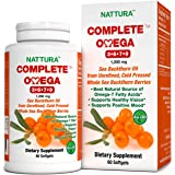 Complete Omega 3-6-7-9, Pure Sea Buckthorn Oil, European Quality, from Unrefined, Cold Pressed Whole Sea Buckthorn Wild…