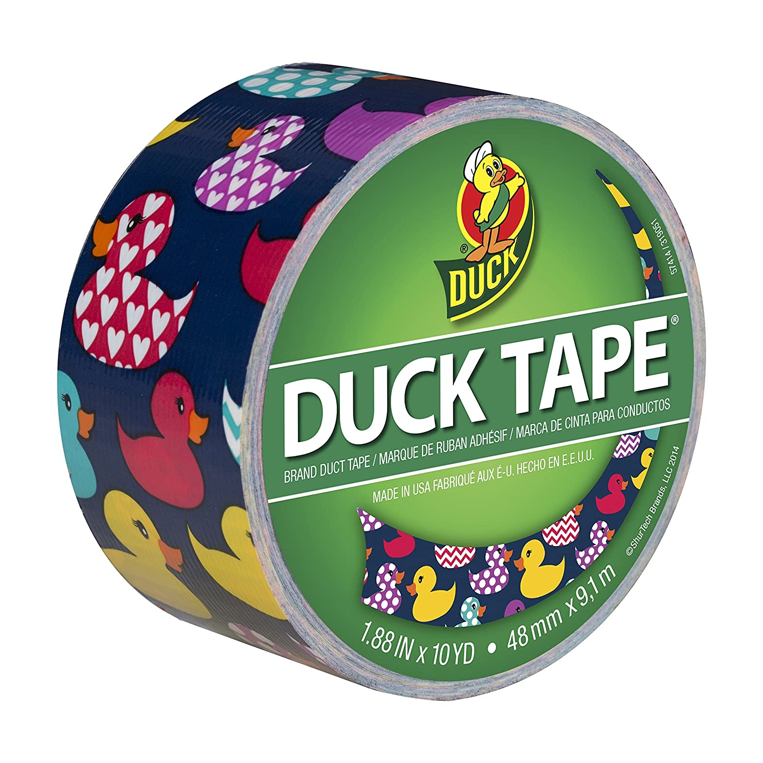 Duck Brand 284172 Printed Duct Tape, Puppy Potpourri, 1.88x10 yd, Single Roll 1.88x10 yd
