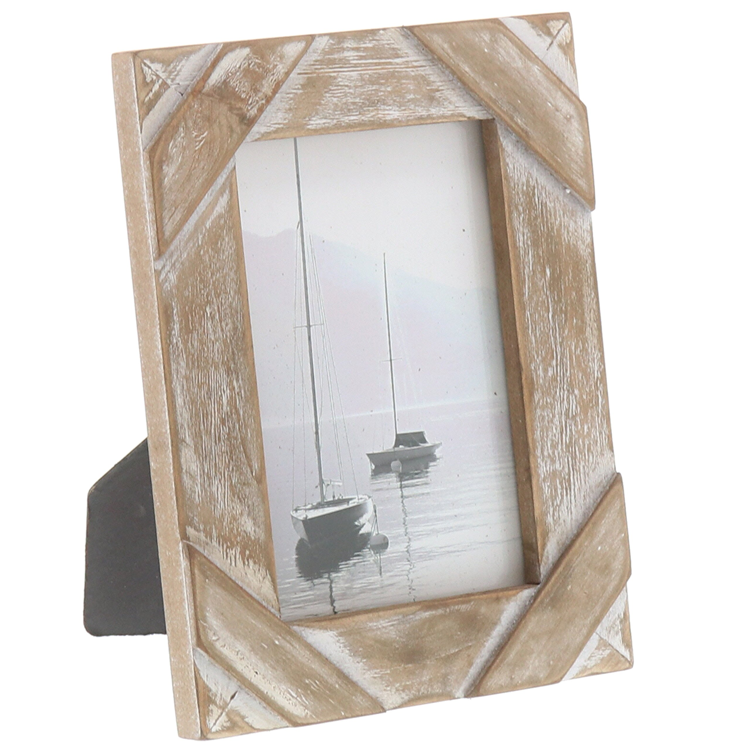 Barnyard Designs Rustic Farmhouse Distressed Picture Frame 4'' x 6'' Wood Photo by Barnyard Designs