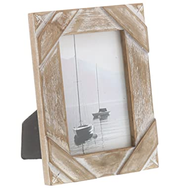 "Barnyard Designs Rustic Farmhouse Distressed Picture Frame 4"" x 6  Wood Photo"