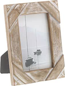 """Barnyard Designs Rustic Farmhouse Distressed Picture Frame 4"""" x 6"""" Wood Photo"""