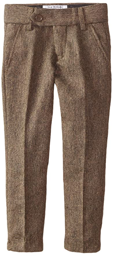 Vintage Style Children's Clothing: Girls, Boys, Baby, Toddler Isaac Mizrahi Little Boys Slim-Fit Wool-Blend Tweed Pant $39.99 AT vintagedancer.com