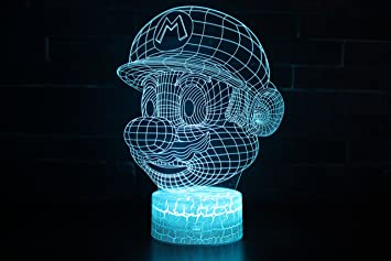 Toys For Boys To Color : Amazon.com: visual 3d lamp baby good night toys 2d night light touch