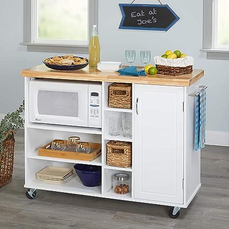 Amazon.com: Carro de microondas, salvavidas en la cocina ...