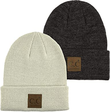 e856b2ac1ccae MH-100-2-16070 Mens Beanie Bundle Classic Watch Cap - 2 Pack (Beige ...