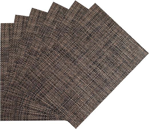 Benson Mills Woven Vinyl Placemats Almond 13 X 18 Set Of 6 Home Kitchen Amazon Com
