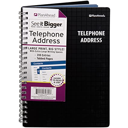 amazon com planahead see it bigger telephone address book large