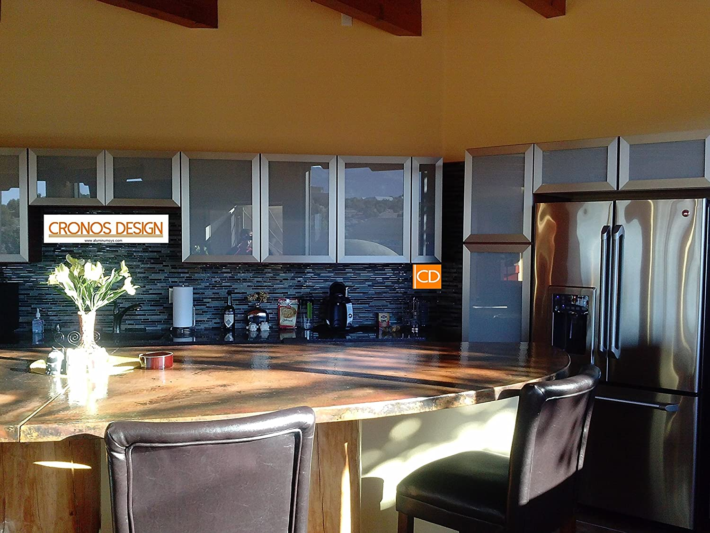 Amazon.com: Custom Made Aluminum Frame Glass Cabinet Door: Kitchen ...
