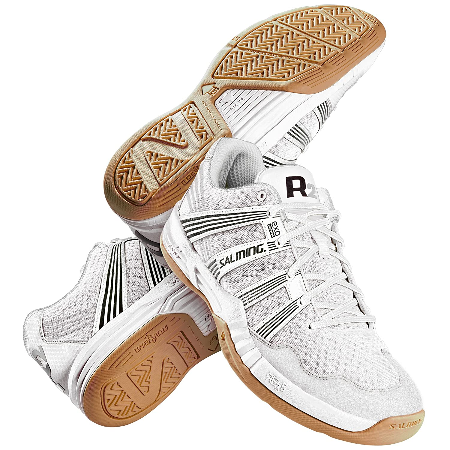 Salming Race R2 3.0 White Squash Shoes
