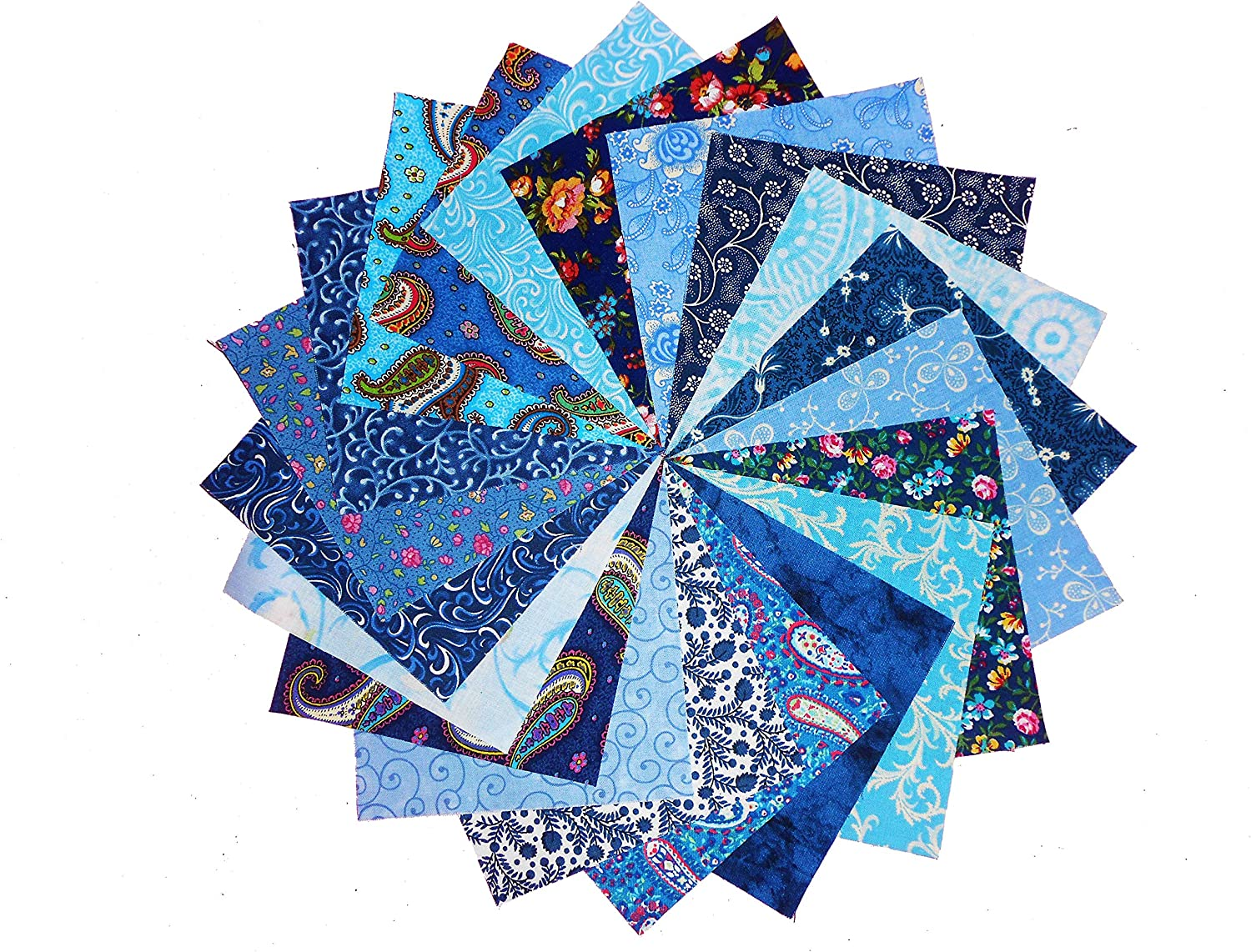 96 4 NEW Among the Flowers Quilting Fabric Charm Pack 2 OF EACH 48 DIFFERENT PRINTS