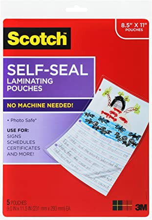 Amazon Com Scotch Laminating Sheets Gloss Finish Ls854 5g Laminating Film Office Products