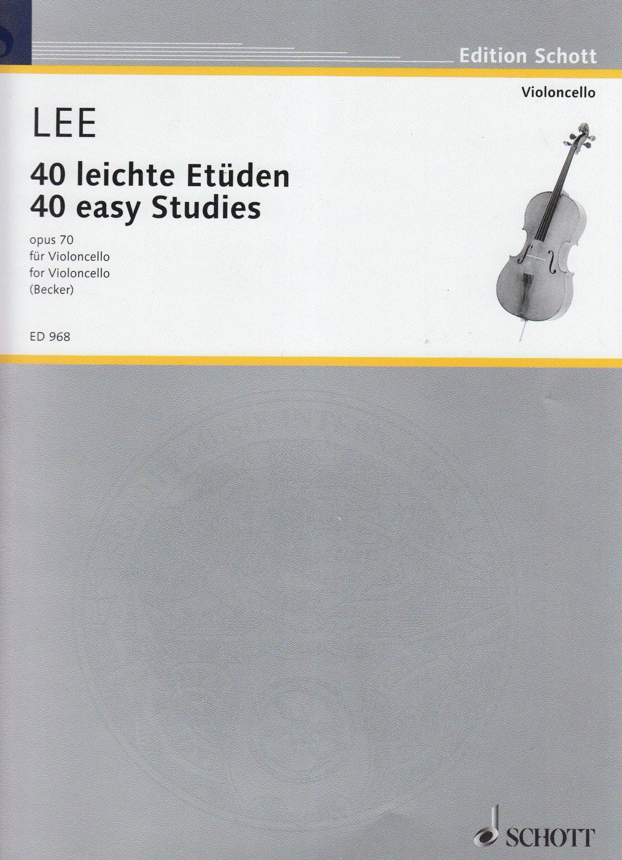 40 Leichte Etueden Op 70. Violoncello