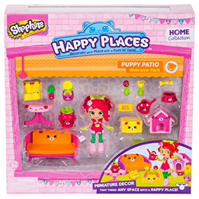 Shopkins Happy Places Season 2 Welcome Pack Puppy Patio: Toys & Games