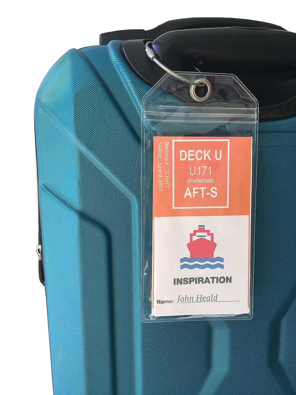 Amazon.com | Cruise Ship Luggage Tags - eTag Holders by Cruise On ...