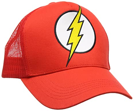 Unisex Dc-Flash-Logo Baseball Cap, Red, One Size DC Comics