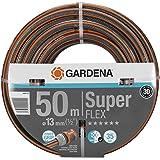 """GARDENA Premium SuperFLEX Schlauch 13mm (1/2""""), 50 m: Gartenschlauch mit Power-Grip-Profil, 35 bar Berstdruck, hochflexibel, formstabil, UV-beständig (18099-20)"""