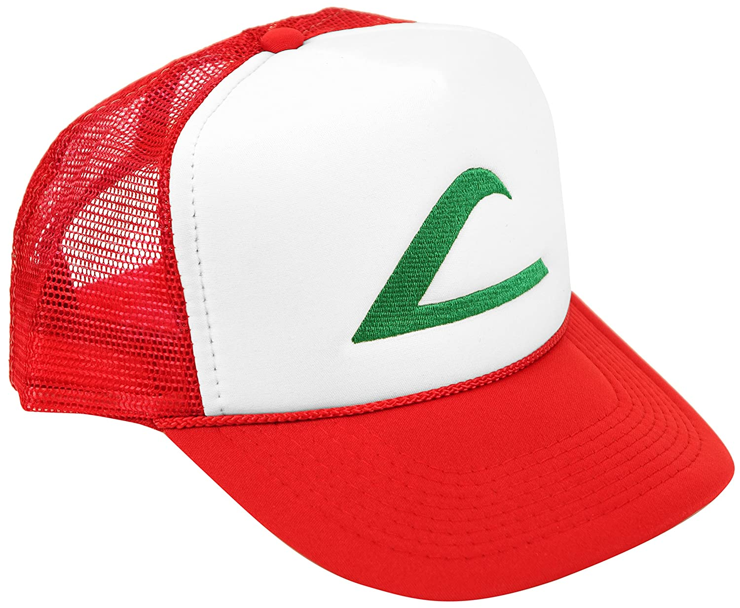 Ash Ketchum Cosplay Hat Mesh Cap with Plastic Snap Closure - Adult & Youth Sizes SPC-Pokemon-C