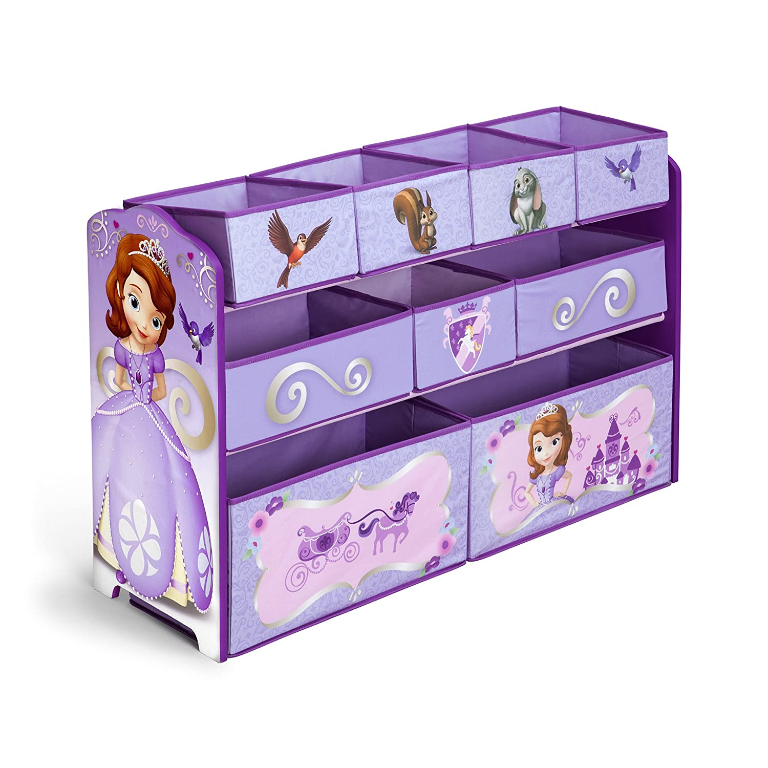 Delta Children Deluxe Multi Bin Toy Organizer, Disney Jr. Sofia The Frist