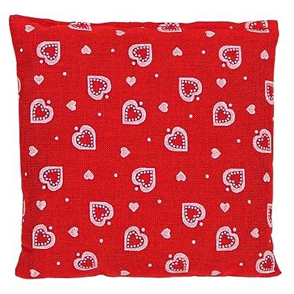 Saquito térmico 12x12cm (rojo con corazones) | Almohadilla ...